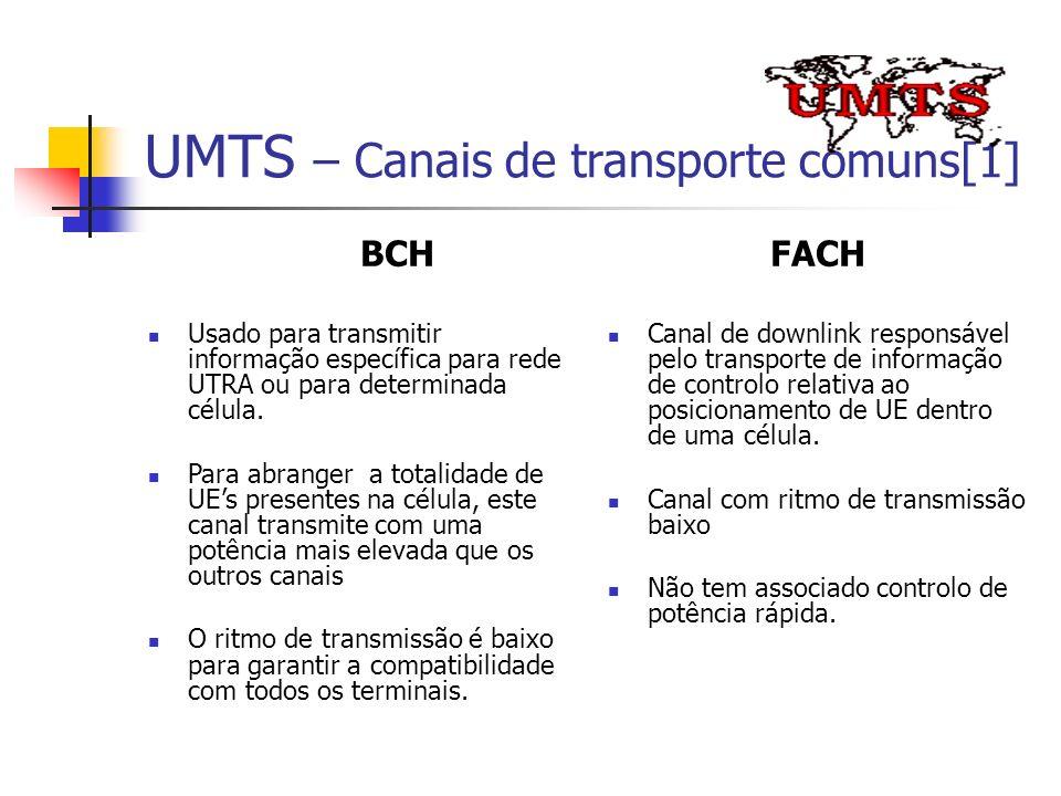 UMTS – Canais de transporte comuns[1]